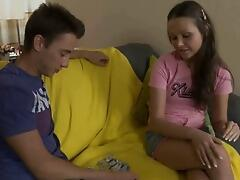 Cute teen babe anal pounded